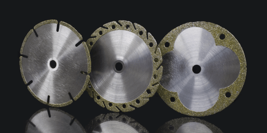 Diamond electroplated cutting blades